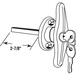 CRL R7044 RV and Camper Door 'T' Locking Handle