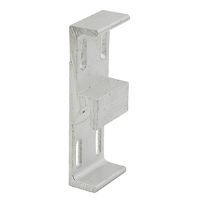 """CRL E2048 Aluminum 1-1/16"""" Wide Lock Keeper with 1-3/4"""" Screw Holes"""