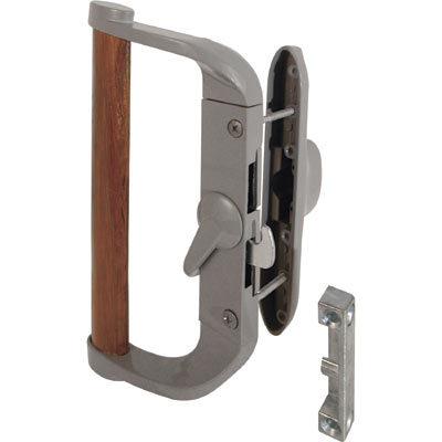 """CRL Aluminum//Wood Hook-Style Surface Mount Handle 3-1//2/"""" Screw Holes Keyed"""