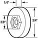 "CRL B629 3/4"" Flat Nylon Sliding Screen Door Roller for Croft and Keller Doors"
