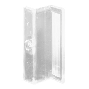 "CRL M6220 Clear Plastic ""Z"" Shaped Shower Door Pull Handle - pack of 2"