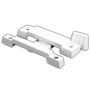 "CRL F2533 White Window Sash Lock - 2-1/4"" Screw Holes"