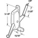 """CRL H3695 Left Hand Awning Window Operator With 5-1/8"""" Screw Holes for Nu-Aire Windows"""
