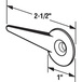 CRL A130 Sliding Screen Door Replacement Latch Lever