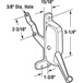 CRL H3672 Right Hand Awning Window Operator for Stanley and C & E