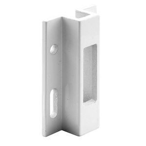 "CRL E2124 White 2-1/2"" Extruded Aluminum Keeper - Viking Doors"