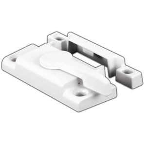 "CRL F2554 White Window Sash Lock with 2-1/8"" Screw Holes"