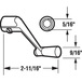 """CRL H3712 White Casement Operator Handle with 5/16"""" Spline Size and 2-11/16"""" Length"""