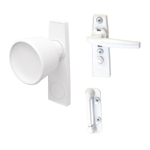 "CRL K5121 White Screen and Storm Door Tulip Knob Latch with 1-3/4"" Screw Holes"