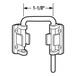"CRL S4377 Chrome 1-1/8"" Sliding Door Loop Lock"