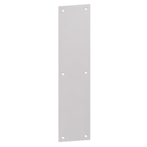 "Hager 100T31228 3"" x 12"" Push Plate with Square Corners Aluminum Finish"
