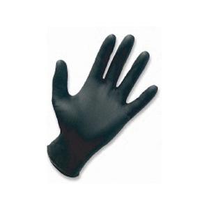 SAS 66517 Safety Raven Disposable Powder-Free Nitrile Gloves, Medium, Black, 6 Mil - pack of 100
