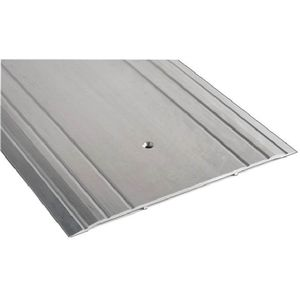 "NGP 1013 36 36"" Flutted Saddle Threshold Clear Anodized Aluminum Finish"