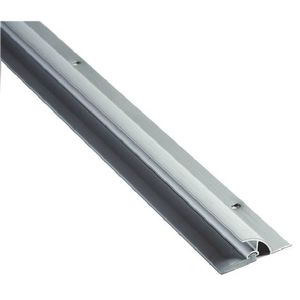 "NGP 101VA 48 48"" Vinyl Door Sweep with Drip Cap Clear Anodized Aluminum Finish"