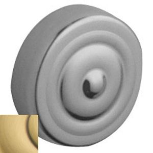 Baldwin 0129060 Colonial Screw Cover Satin Brass with Brown Finish