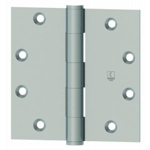 "Hager 119131210D 3-1/2"" x 3-1/2"" Full Mortise Five Knuckle Standard Weight Plain Bearing Hinge, # 044476 Black Nickel Finish"