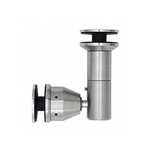 """CRL RB55SBS Brushed Stainless 90 Degree Swivel Glass-to-Glass Fitting for 1/2"""" Glass"""