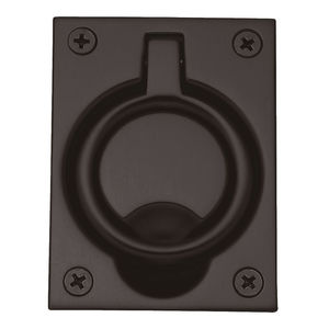 Baldwin 0395112 Flush Ring Pull Venetian Bronze Finish