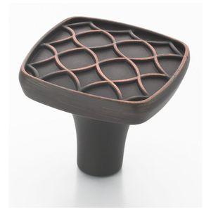 Marsden 1-1/8 Inch Square Cabinet Knob Oil Rubbed Bronze