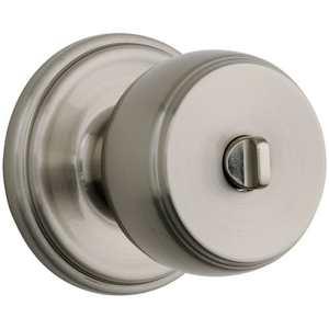 Brinks 23022119 Ganyon Privacy Push Pull Rotate Lockset Satin Nickel Finish