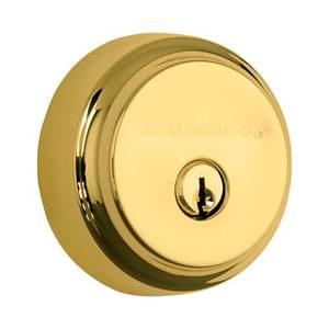 Brinks 23061105 Almarrion Single Cylinder Deadbolt Polished Brass Finish