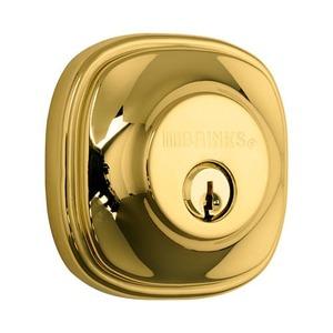 Brinks 23063105 Weldon Single Cylinder Deadbolt Polished Brass Finish