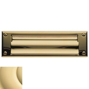 Letter Box Plate Unlacquered Brass Finish
