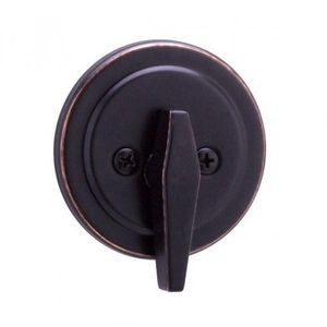 Weslock 00267-1-1SL23 Turn Only Deadbolt with Adjustable Latch and Deadbolt Strike Oil Rubbed Bronze Finish