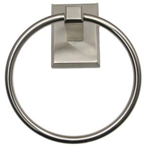 Rusticware 8786SN Utica Towel Ring Satin Nickel Finish