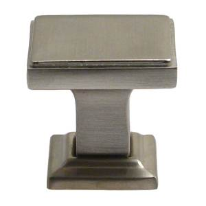 "Rusticware 991SN 1-1/8"" Modern Square Cabinet Knob Satin Nickel Finish"