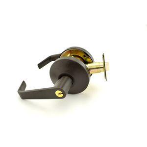Falcon B511D613 B Series Office Dane Lever Lock C Keyway with 57435 Latch 5164 Strike Oil Rubbed Bronze Finish