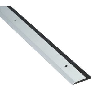 "NGP 200NA 36 36"" Black Neoprene Door Sweep Clear Anodized Aluminum Finish"