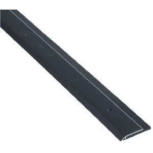"NGP 200NDKB 36 36"" Black Neoprene Door Sweep Clear Anodized Aluminum Finish"