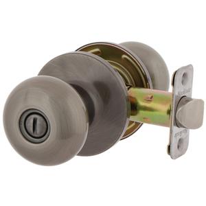 MaxGrade 200WAT15A MaxGrade Watson Privacy Turn Button Lock Antique Nickel Finish with Adjustable Latch and Radius Strike