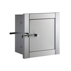 """Bobrick B50517 Recessed Heavy Duty Specimen Pass Through Cabinet with 10"""" Flange Satin Stainless Steel Finish"""