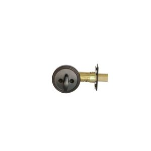 MaxGrade 67011H MaxGrade One Sided Deadbolt Aged Bronze Finish with Adjustable Latch and Square Strike