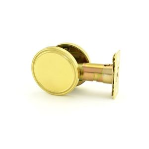 MaxGrade 6753 MaxGrade One Sided Deadbolt with Plate Bright Brass Finish with Adjustable Latch and Square Strike