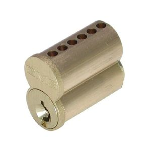 GMS IC7F4 7 Pin Small Format Interchangeable Core with Best F Keyway Satin Brass Finish