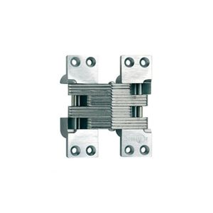 """SOSS 420SSUS32 1-3/8"""" x 4-1/2"""" Heavy Duty Fire Rated Invisible Hinge for 2"""" Doors Bright Stainless Steel Finish"""