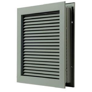 "National Guard Products L700RX24X24 24"" x 24"" Self Attaching No Vision Door Louver for 1-3/4"" Doors Prime Coat Finish"