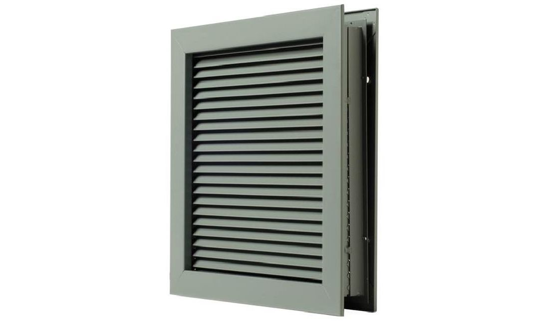 Aluminum 6 Height National Guard Products 6 Height National Guard L700RX12X6 L-700-Rx-12X6 Self Attach Louver 12 x 6