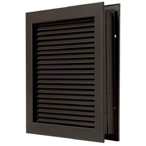"National Guard Products L700RXDKB24X24 24"" x 24"" Self Attaching No Vision Door Louver for 1-3/4"" Doors Dark Bronze Finish"