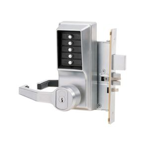 Simplex L8148S26D Left Hand Mechanical Pushbutton Lever Mortise Lock with Deadbolt and Schlage Prep Satin Chrome Finish
