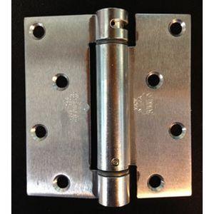 """Bommer LB4350-400-604 4"""" X 3-3/4"""" Lube Bearing Full Mortise Square Corner Spring Hinge for Acorn Zinc Dichromate Finish"""