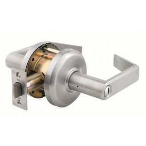 """Stanley Commercial Hardware QCL240E626 Sierra Privacy Lock with 2-3/4"""" Backset and ASA Strike Satin Chrome Finish"""
