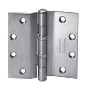 """McKinney T4A378641226D 4-1/2"""" x 4-1/2"""" Square Corner Heavy Weight 5 Knuckle Ball Bearing Hinge # 58384 Satin Chrome Finish"""