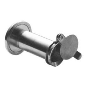 """Rockwood 626DCRM UL Rated 190 Degree Door Viewer with Cover for 1-3/8"""" x 2-1/8"""" Doors Satin Chrome Finish"""