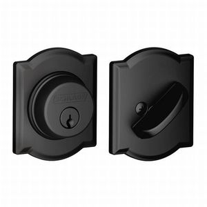 Schlage Residential B60 CAM 622 Camelot Single Cylinder Deadbolt C Keyway with 12287 Latch and 10116 Strike Matte Black Finish