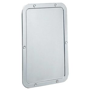 Bobrick B942 Frameless Mirror Satin Stainless Steel Finish