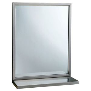 """18"""" x 30"""" Welded Frame Mirror with Shelf Combination NA Finish"""